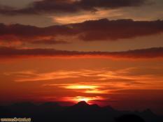 Sonnenuntergang auf dem Stripsenjochhaus, Wilder Kaiser